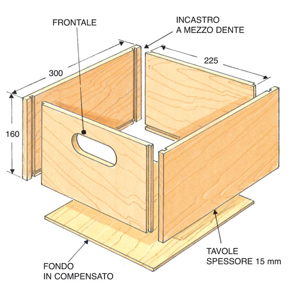 scatoletta in legno disegno