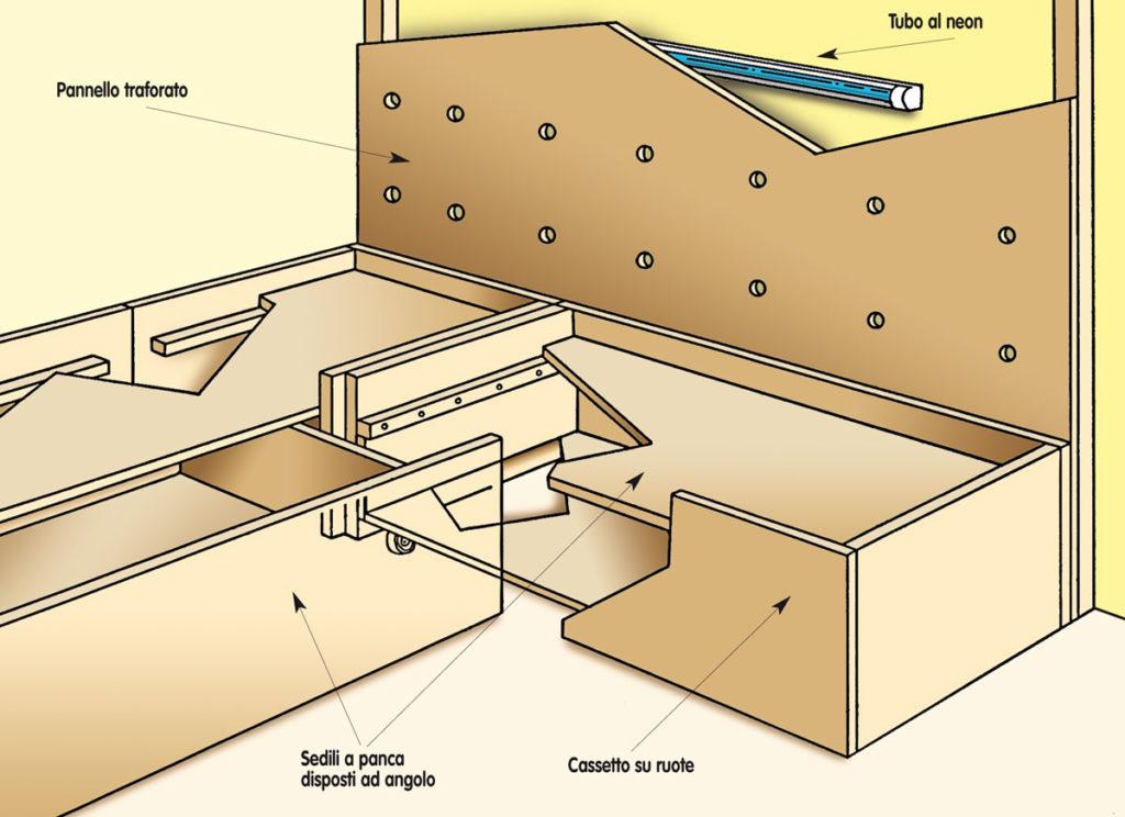 costruzione panca contenitore